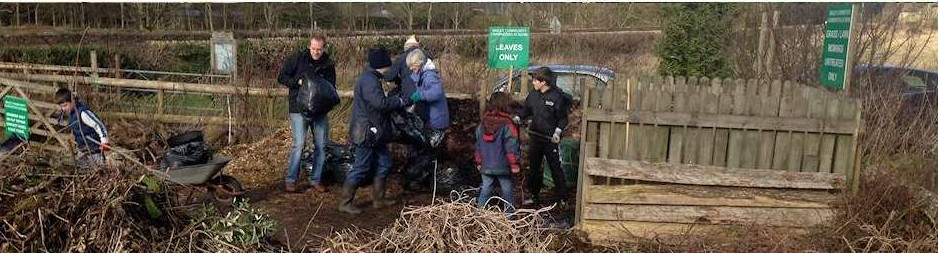 Volunteers working at Bisley Community Compost Scheme